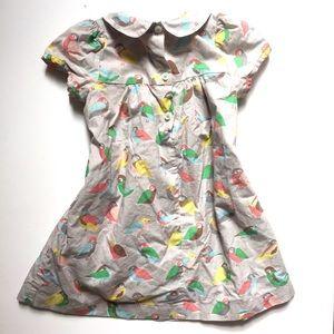 Baby Boden Dresses - Baby Boden • bird print 100% cotton toddler dress